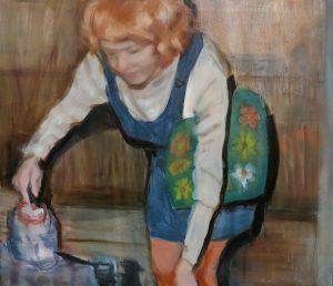 Mari Pihlajakoski: Dreams in the Tea Pot 2019, öljy kankaalle, 95 x 110 cm