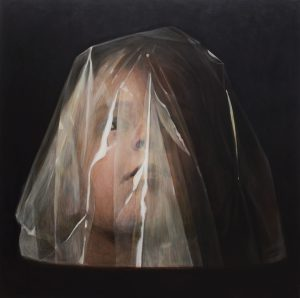 Antero Kahila: Iho 2, öljy ja akryyli, 220 x 220 cm, 2018